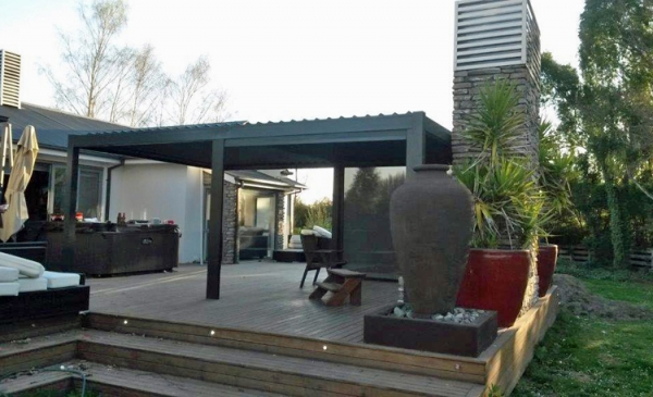 Freestanding Louvre Rooms NZ Bask Outdoor Living